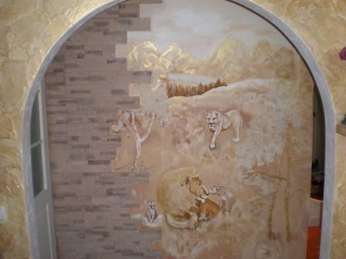 Роспись стен своими руками шпаклевкой 1200